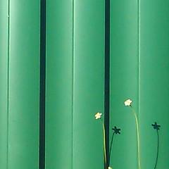 green fence, flowers and shadows (stephanieu14) Tags: flowers green fence weeds shadows kedron htcphone flickrandroidapp:filter=none