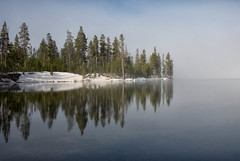...if the simple things of nature... (dbushue) Tags: lake snow tree nature misty fog reflections landscape spring nikon quiet peaceful calm yellowstonenationalpark serene wyoming magical tranquil ynp lewislake coth supershot 2013 absolutelystunningscapes damniwishidtakenthat coth5 sunrays5