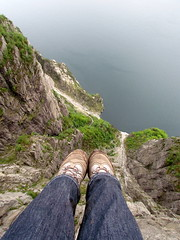 (Rose Elizabeth *) Tags: norway rock walking boots drop fjord pulpit height preikestolen ahhhhhhhhhhhh