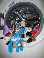 24/52 Wash Time (Helen Orozco) Tags: rose toys monkey wash laundry snoopy zebra ladybird ladybug zia