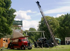 National Fire Service Demonstration (MJ_100) Tags: uk england austin derbyshire wwii engine pump ww2 ladder dennis blitz firedepartment derby hoses k4 firebrigade nfs fireservice emergencyservices emergencyvehicle turntableladder nationalfireservice lightfour