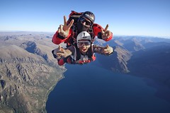 Skydiving in summer in Queenstown (NZONE Skydive) Tags: newzealand skydiving southisland queenstown skydive parachuting parachute freefall tandemskydive tandemskydiving freefalling