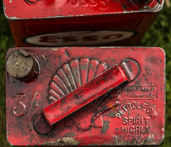Shell & Esso Cannisters (thirtyfootscrew) Tags: bedfordshire shell gas oil petrol esso shuttleworth fuel petroleum biggleswade cannister shuttleworthcollection