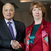 Catherine Ashton with Dr Nabil El-Araby, Secretary General of the Arab League