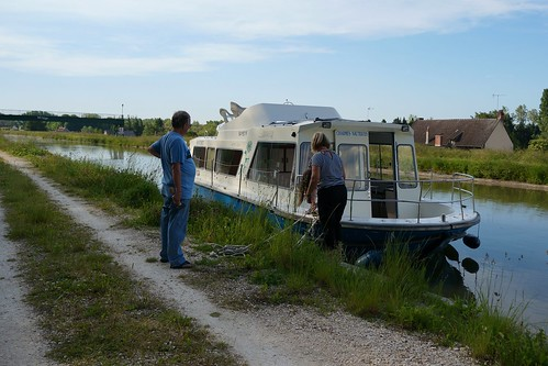 Our first mooring, at Chatillon-Sur-Loire