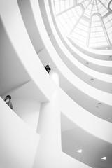 Guggenheim I (jonasreeb) Tags: nyc blackandwhite bw museum architecture minimal guggenheim highkey