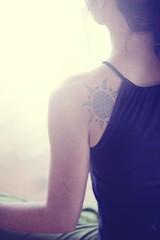 Yoga (Confused-Hair) Tags: light woman yoga tattoo arm shoulder