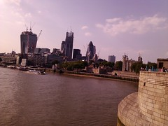 The climbing city (Cheshire Cat's Friend) Tags: city uk bridge london thames skyscrapers towers climbing smartphone