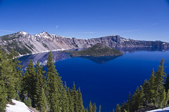 Crater Lake (ePut) Tags: blue trees lake water oregon reflections snowcapped craterlake top20blue