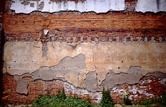 Decaying Wall (jpmatth) Tags: color brick wall bar digital canon concrete eos lenstagged illinois peeling mk2 5d decaying taylorville fallingapart 2013 ef35mm20
