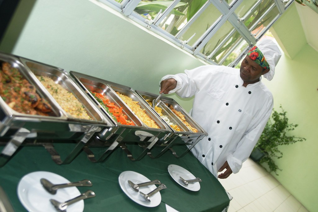 Chef Jerry organizing a great buffet!