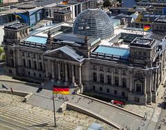 Kite Above Reichstag Berlin Germany (Wind Watcher) Tags: blue kite berlin germany reichstag sdm kap dopero windwatcher chdk