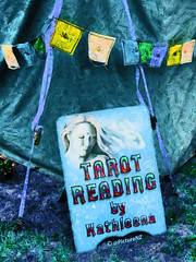 Tarot Reading (Steve Taylor (Photography)) Tags: blue cars texture hair reading purple reader flags tent fortune tarot future flowing past gypsy straps mystic prediction array teller bunting clairvoyant romany romani kathleena