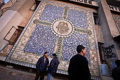 Street Scene (Leonid Plotkin) Tags: india streetart man asia mosaic decoration streetscene kolkata bengal calcutta westbengal