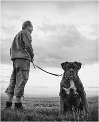 Lyon - Be yourself ! (Alain Licari - Balades en Photographie) Tags: portrait bw dog chien white black monochrome nikon noir emotion lyon humor nb 24mm yourself blanc poesie licari d700