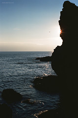 Sea (Oleh Slobodeniuk) Tags: travel sunset sea film nature stone 35mm landscape pentaxk1000 crimea kodakektar