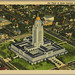 Air View of State Capitol, Lincoln, Neb   postcard