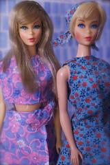Twist n' Turn Barbie and Hair Fair Barbie (RomitaGirl67) Tags: mod barbie tnt vintagebarbie twistnturnbarbie modbarbie moderabarbie vintagedollfashions britishcrowncolonyofhongkong barbiecloneclothes