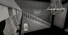 The Richington McMansion (Fierce Nerd Posse Photography) Tags: homes bw fashion avatar sl secondlife mansion foyer entry elegance abiss fabfree