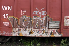 kush ofw (total annihilation) Tags: railroad color art train bench graffiti panel freight blend benching