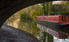 bridge canal oxford thumbsup barge towpath anglers waltonwell