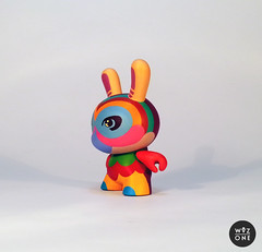 "3"" Volta Dunny (WuzOne) Tags: colors painting toy design diy handmade vinyl kidrobot cover björk custom volta dunny munny artoy wuzone"