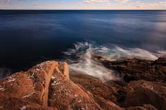 Swirling waters (Al Power) Tags: longexposure autumn sea fall me nature coast nationalpark movement maine filter coastline swirl acadia nd10