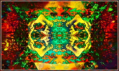 Quadratic, Mandalic, Chromo-Cephalic Portait in Tones Psyhotropic, Shamanic