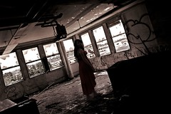 Asylum (SkylerBrown) Tags: california shadow red usa abandoned dark intense scary shadows sad darkness ominous fear brokenglass dramatic creepy macabre emotional vallejo angst