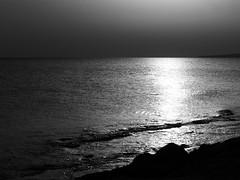 sea noir (tamasmatusik) Tags: sunset bw seaside cyprus naplemente