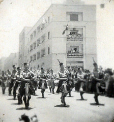 Image titled Kings Birthday Parade Jerusalem Scots Pipe Band 1945