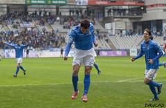 David Alba celebrando su gol (Dawlad Ast) Tags: b espaa david real 1 alba asturias carlos estadio grupo oviedo futbol nuevo segunda guijuelo tartiere