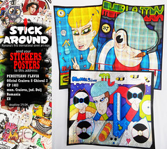 mumblejinx from PA usa (2efs STICK AROUND!!! expo) Tags: street art stickers international romania stick around bucuresti combo dragute creaturi