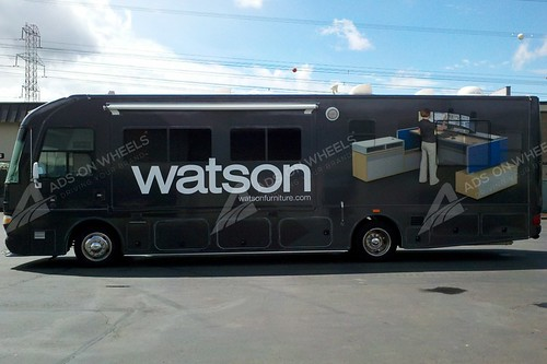 Motorhome graphics wrap for Watson Austin, TX