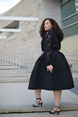 Midi Skirts (GirlWithCurves) Tags: midi curlyhair skirts plussizefashion plussizeclothing curvygirl girlwithcurves plussizeblog taneshaawasthi curvyfashion