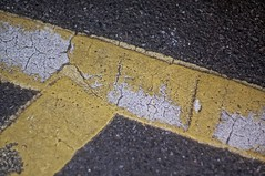 Yellow and White (pigpogm) Tags: abstract lines yellow photos ground asphalt carpark mxpp
