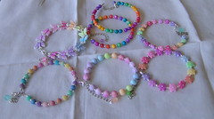 Spring 2014 - Bracelets collection - Young ladies (klio1961) Tags: original summer arcoiris easter diy beads spring rainbow handmade unique oneofakind pearls jewellery gifts bracelets imadethis madebyme authentic imadeit artesania vividcolors unico joyas pulseras softcolors hechoamano nicelittlethings kosmimata braxiolia xeiropoiito vraxiolia