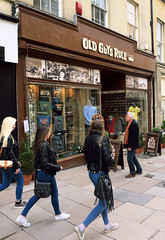 Old Guys Rule, sort of...(The older I get, the better I was) (Matt Chambers) Tags: street shop retail bath panasonic jeans rua bluejeans oldguys youngandold 14mm gx1