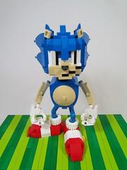 Lego Sonic the Hedgehog (Brickadier General) Tags: classic video team lego action games sonic gaming figure sega hedgehog 16 wars saturn megadrive dreamcast genesis console bit 1990s 90s yuji naka poseable