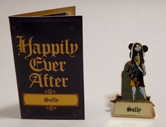 Disney Pin Purchases - 2014-05-22 - Happily Ever After Mystery Pin - Sally - Pin and Story Card - Card Closed (drj1828) Tags: mystery us pin disneyland sally collection purchase limitededition nightmarebeforechristmas firstlook happilyeverafter disneypintrading le500