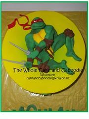 half shell hero (The Whole Cake and Caboodle ( lisa )) Tags: cakes cake turtle 2d whangarei teenagemutantninjaturtles tmnt teenage birthdaycakes caboodle 2dimensional thewholecakeandcaboodle birthdaycakeswhangarei