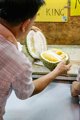 Durian, Kuala Lumpur (Colum O'Dwyer) Tags: street fruit night travels market streetphotography malaysia durian tropical kualalumpur colum durians colcum columodwyer