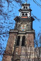 Westertoren (Andy2982) Tags: building amsterdam churchtower spire westertoren westerkerk hendrickdekeyser jacobvancampen westerntower imperialcrownofaustriaofmaximiliani