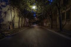 Abandoned street (karinavera) Tags: travel sonya7r2 street dark laboca longexposure tree night abandoned