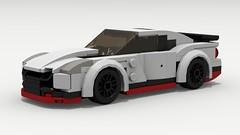 Nissan GT-R NISMO (LegoGuyTom) Tags: nissan gtr classic vintage 2000s 2010s japanese japan speed speedster sport super supercar city car cars datsun lego legos ldd digital designer dropbox download nismo pov povray lxf
