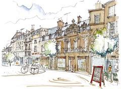 Poitiers, rue Carnot (Croctoo) Tags: croctoo croctoofr croquis aquarelle watercolor poitou ville poitiers poitoucharentes