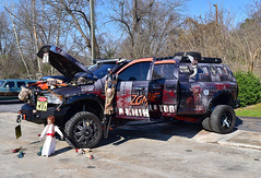 The Zombie Annihilator Ram pickup (Thumpr455) Tags: mopar libertyfinecutsshaves carshow greenville sc auto automobile truck pickup zombieannihilator ram dodge nikon d5500 afnikkor1855mmf3556gvr 4x4 dually