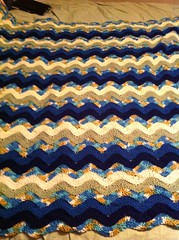 Stephanie Ragland (The Crochet Crowd) Tags: ripple crochet mikey yarn blanket afghan april redheart chevron challenge freepattern 2013 freecrochetpattern thecrochetcrowd oceanoceanwavesafghan