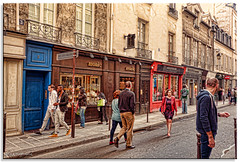 Head Turner (fotografdude) Tags: street woman paris turn walk crowd shops stores leatherjacket rubberneck boutiques headturner fotografdude sonyrx100