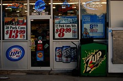 Beer & 7up (Cragin Spring) Tags: beer rural store illinois midwest pop il liquor corona storefront soda budlight 7up hebron millerlite bluemoon piwo sodapop milwaukeesbest beersign mchenrycounty hebronil hebronillinois leinies mchenrycountyil